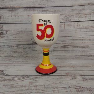 Hallmark Cheers To 50 Years Wine Glass Goblet Cup